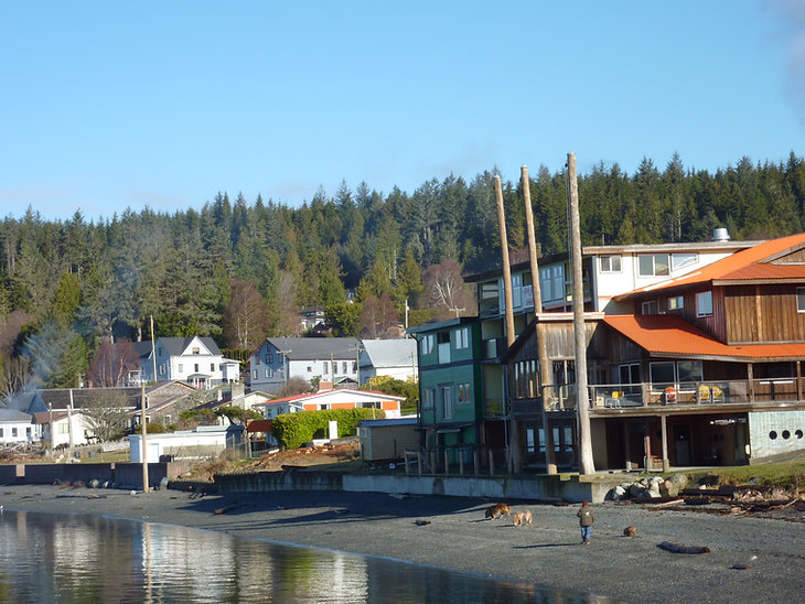 Sointula Harbour on Malcolm Island | Bere Point Regional Campground | cycle touring north Vancouver Island
