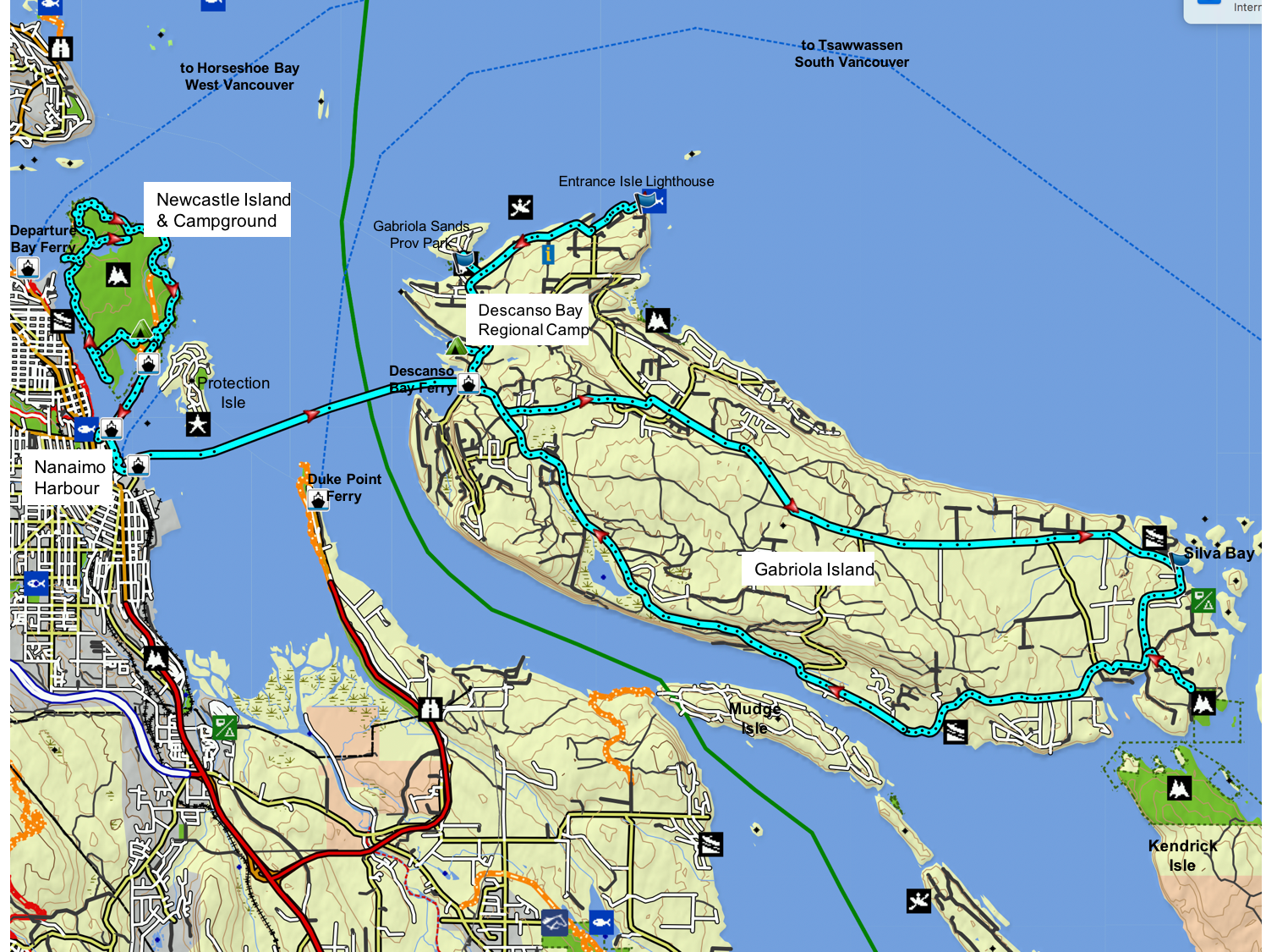 Nanaimo Harbour Island Tours map