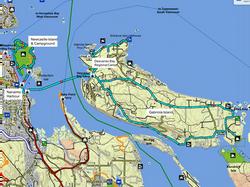 Nanaimo Harbour Island Tours map