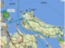 Fav ride location / route map | cycle touring Nanaimo harbour islands | Newcastle Island & Gabriola Island