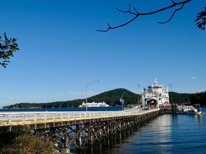 Sturdies Bay ferry terminal | Galiano Island | cycle touring south Gulf Islands