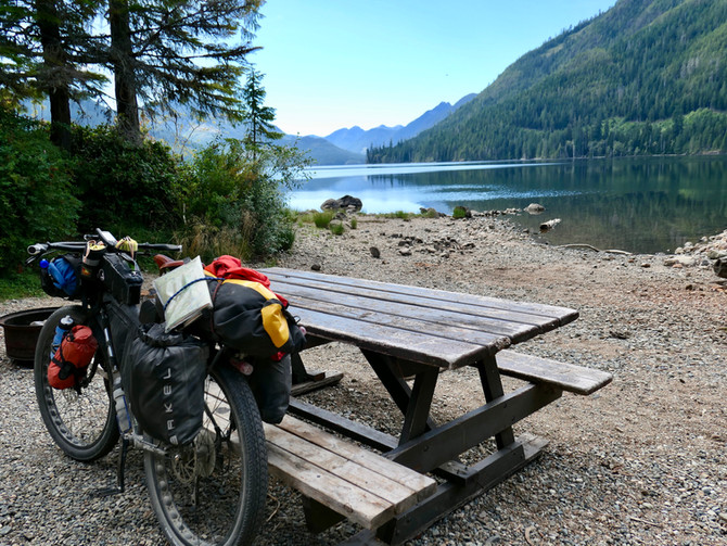 Riding the backroads west from Sayward