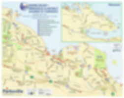 Parksville bicycle route map | cycle touring Parksville
