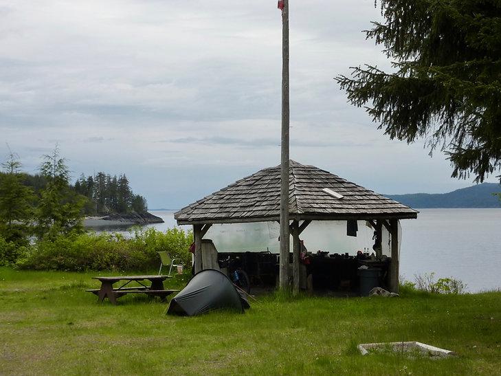 Naka Creek Rec Camp | Johnstone Strait, NE Vancover Island | bikpacking north Vancouver Island