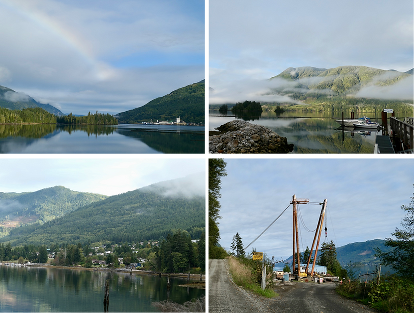 Neroutsos Inlet & Port Alice    bikepacking west to Side Bay   cycle touring north Vancouver Island