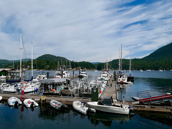 Marina at Madeira Park | bike touring Sunshine Coast