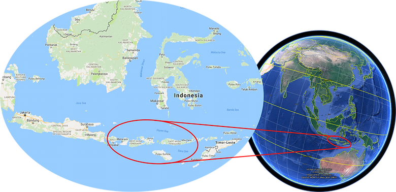Location map East Indonesian Islands | cycle touring Flores, Sumbawa & Lombok