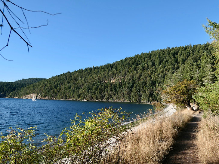 Montague Harbour Provincial Campground | Galiano island, south Gulf Islands | cycle touring south Vancouver Island