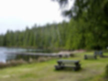 Beaver Lake Rec site   junction Highway 30 to Port Alice   cycle touring north Vancouver Island