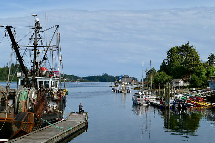 Ucluelet harbour | Green Point Campground | cycle touring Vancouver Island