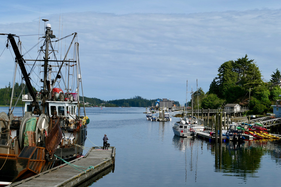 Ucluelet waterfront, west coast Vancouver Island