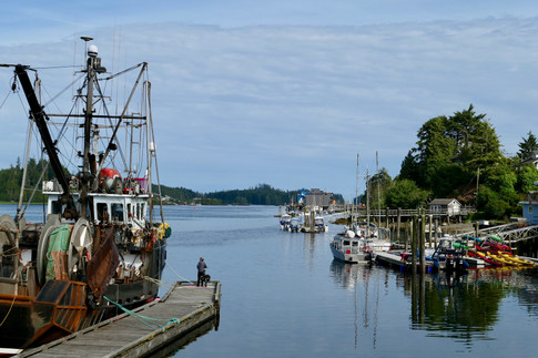 Ucluelet waterfront, west coast Vancouver Island