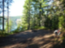 Informal camping along Upper Campbell Lake | cycle touring Strathcona Park | cycle touring Vancouver Island