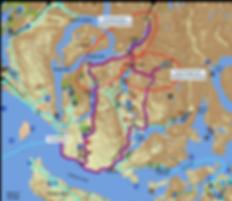 bikepacking route map | bikepacking Powell lakes | Freda Lake | Goat Lake | Haslam Lake