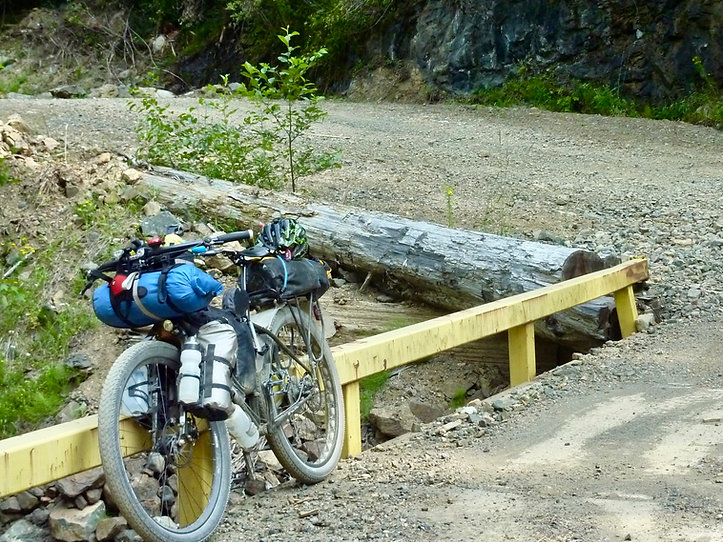 Surly ECR gear bags | bikepacking upper Oyster River