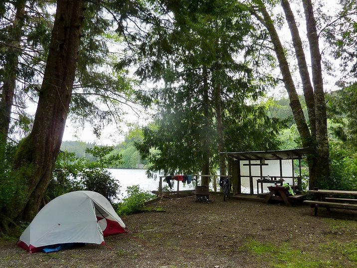 Koprino Rec Camp | Spencer Bay, Quatsino Sound, Holberg Inlet | bikepacking NW Vancouver Island
