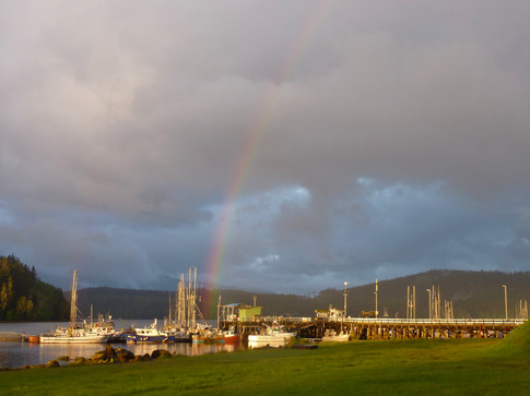 Coal Harbour - the end of the rainbow