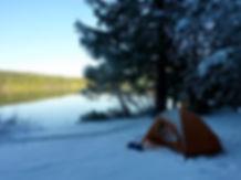 Mountain Hardwear Spire 2.1 tent | Winter camping S Mohun Lake | cycle touring Vancouver Island