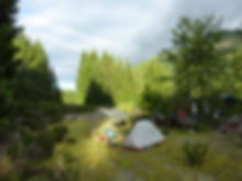 MSR Hubba cycling tent | Wild camping off Nanaimo River | cycle touring Vancouver Island