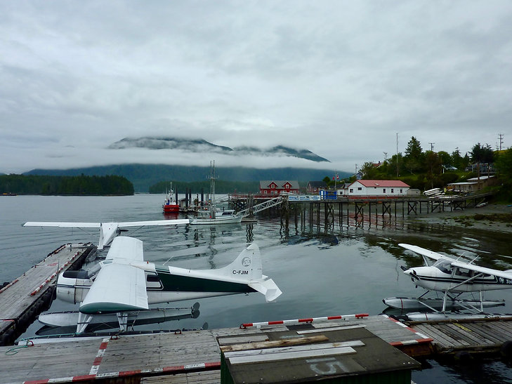Tofino harbour | Green Point Campground | cycle touring Vancouver Island