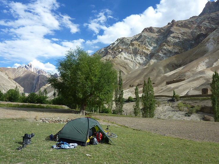 Hilleberg Rogen cycle touring tent | cycle touring Ladakh