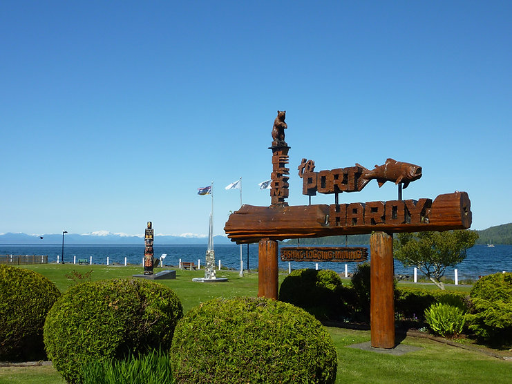 Port Hardy waterfront | end of North Island Highway | cycle touring north Vancouver Island