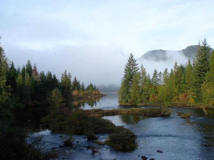 Ash River near Dickson Lake | bikepacking NW of Port Alberni | cycle touring Vancouver Island