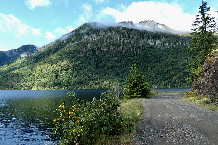 NW Sproat Lake Rec campsites | bikepacking | cycle touring west of Port Alberni