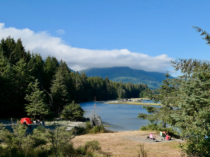 Pacheedaht First Nations Campground | outside Port Renfrew | cycle touring south Vancouver Island | backroads bikepacking