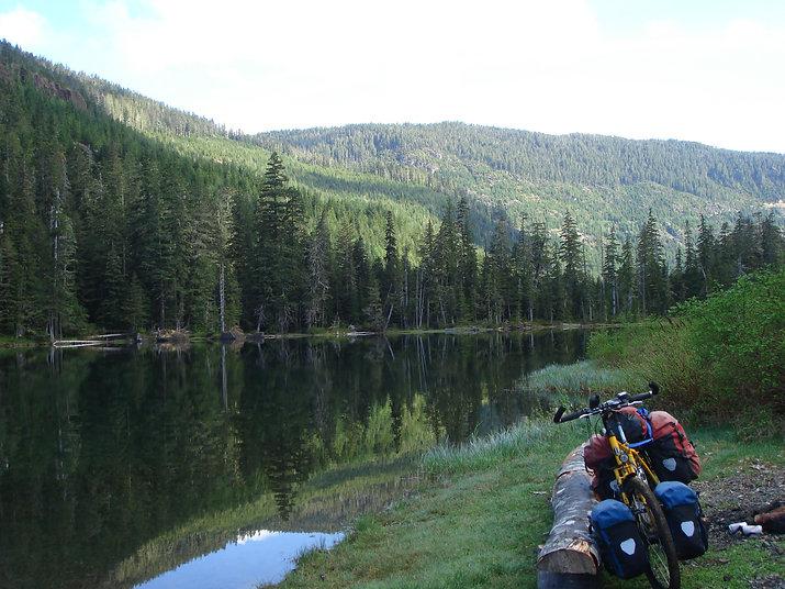 Toy Lake, favourite campground, Strathcona Provincial Park, backroads bike tour, bikepacking, Oshinow Lake, Vancouver Island