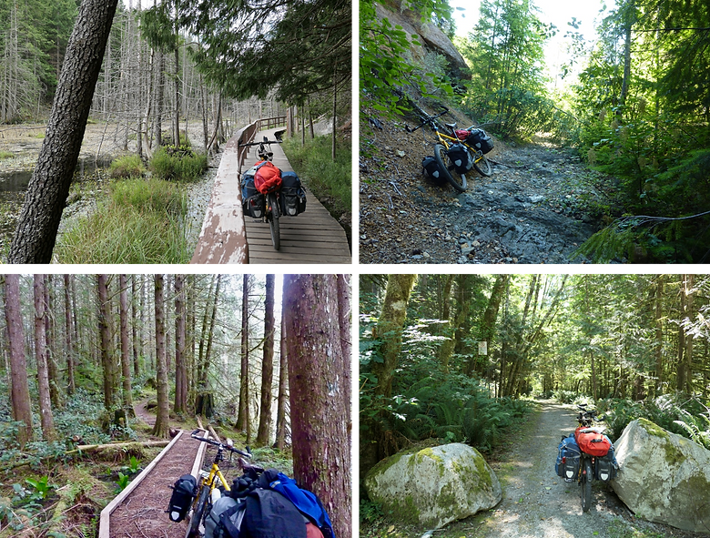 Trail & backroad cycle touring on Vancouver Island & the Sunshine Coast
