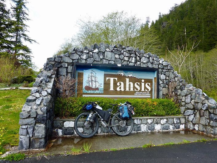 Tahsis village | bikepacking Gold River to Tahsis | cycle touring Vancouver Island