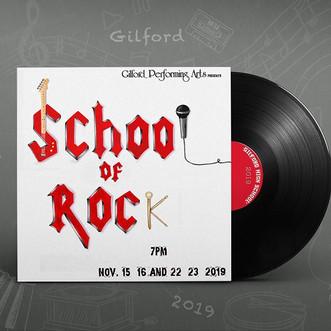 Poster we designed for #schoolofrock @gi