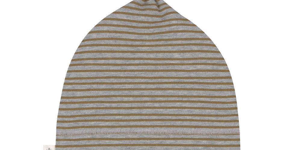 Bonnet rayé gris chiné/kaki - LASSIG