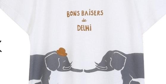 """T-shirt """"Bons Baisers de Delhi""""- Émile et Ida"""