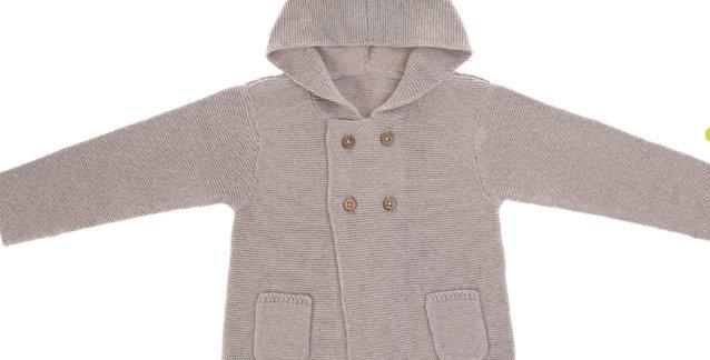 """Gilet tricoté à capuche """"gris""""- Lassig"""