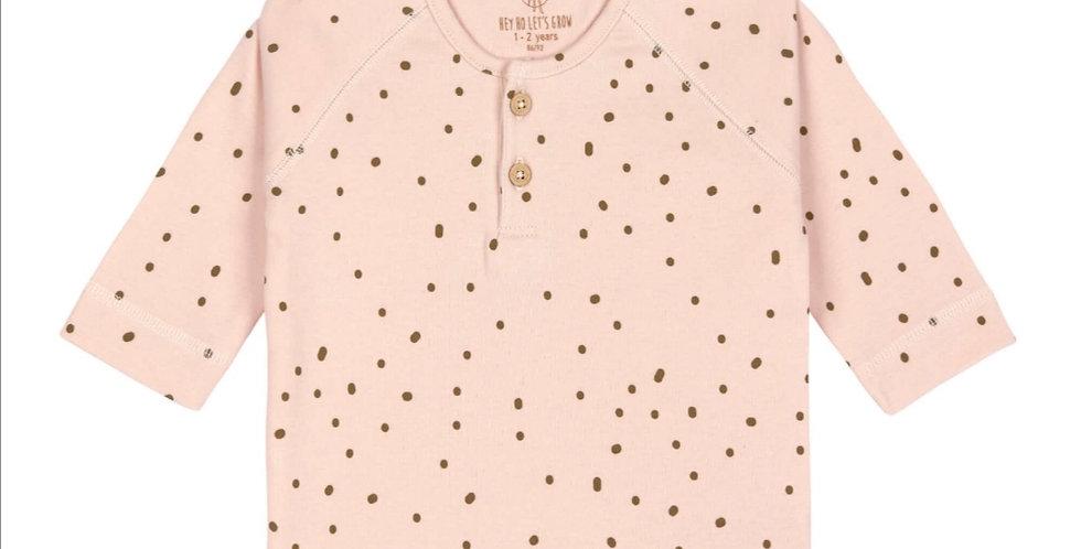 T-shirt manche longue rose/kaki- LASSIG