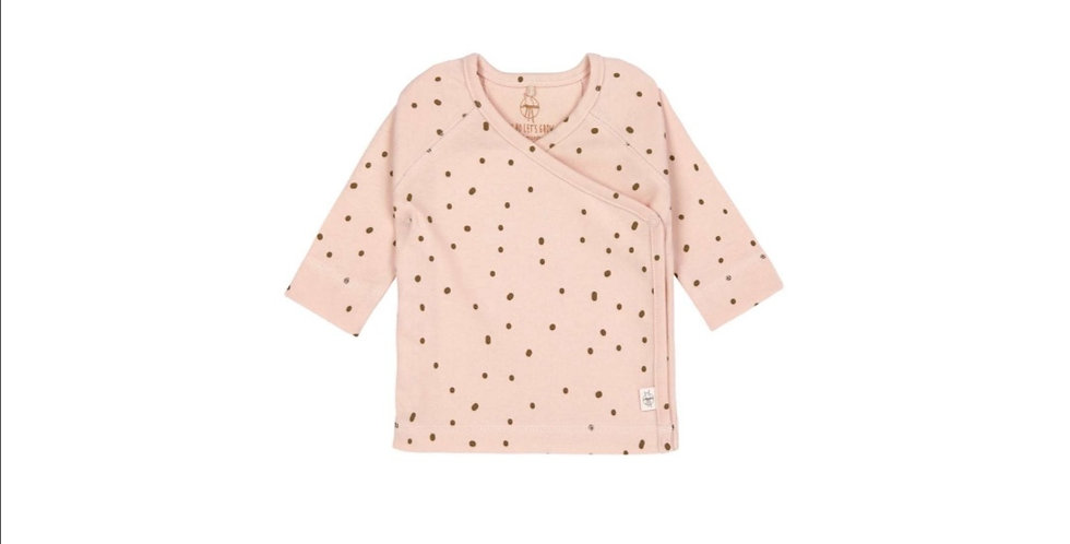 T-shirt kimono manches longues rose/kaki- LASSIG