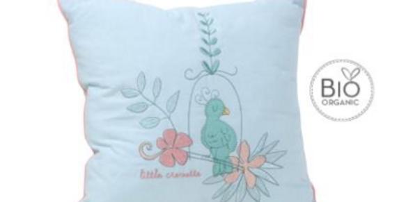"""Coussin """"Oiseau de Paradis""""-Little Crevette"""