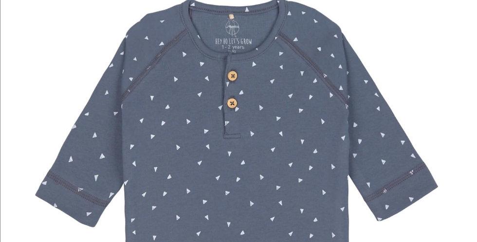 T-shirt manche longue bleu/blanc-LASSIG