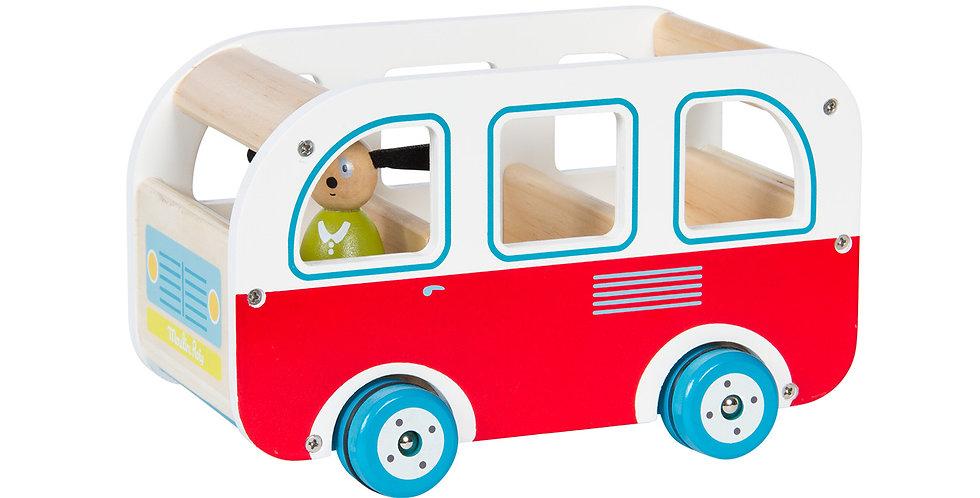 Bus en bois avec Julius