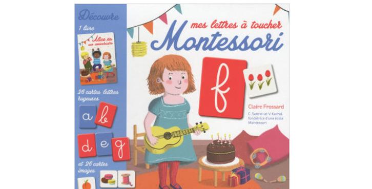 Mes lettres à toucher - Montessori