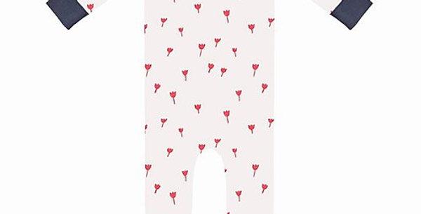 """Pyjama avec pieds """"Tulipe rouge""""- Fresk"""