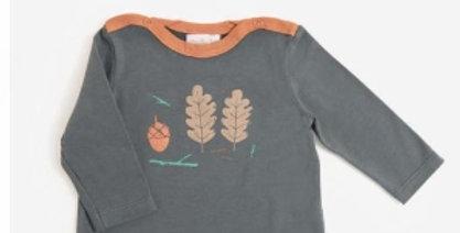 """T-shirt manches longues """"Éric"""" Pomme des bois-Moulin Roty"""