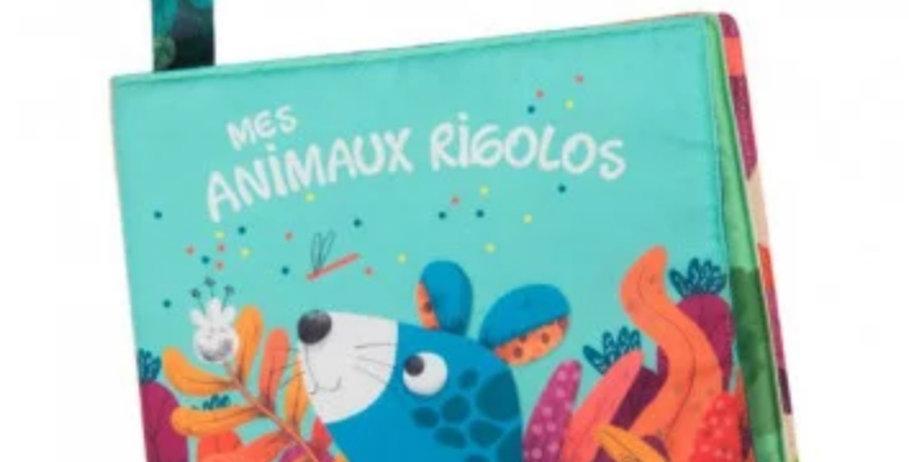 """Livre tissu d'activités """"Dans la jungle""""- Moulin Roty"""