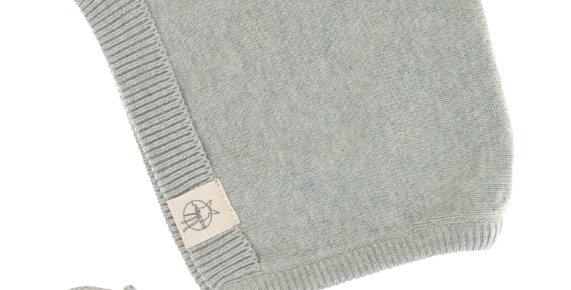 """Bonnet tricoté """"vert d'eau""""- Lassig"""