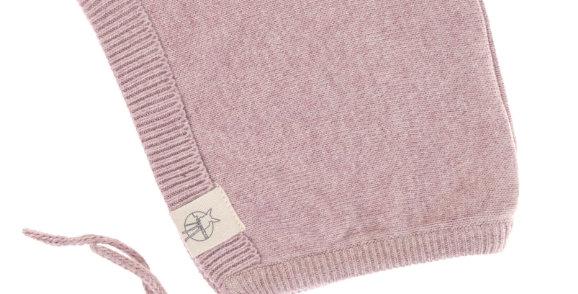 """Bonnet tricoté """"vieux rose""""- Lassig"""