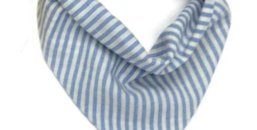 "Bavoir bandana ""bleu ciel/blanc""- Petit Pote"
