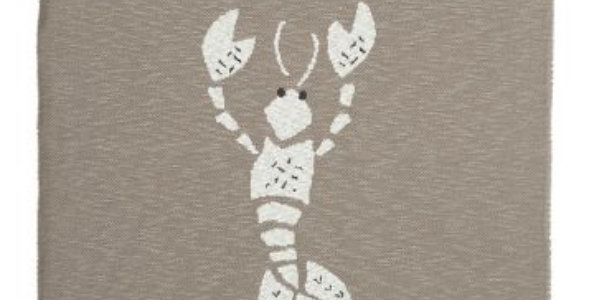 """Couverture tricot """"Homard"""" grise - Fresk"""