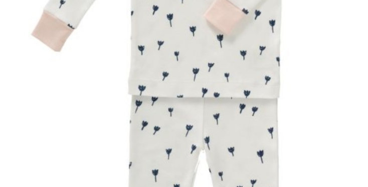"Pyjama 2 pièces ""Tulipes bleues"" en coton Bio - Fresk"